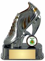 18cm Football Boot Trophy (V2251)