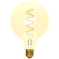 4W LED VINTAGE SOFT COIL VERTICAL FILAMENT LARGE GLOBE - ES, AMBER, 2200K
