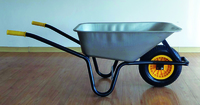 90Ltr. Galvd. Builders Wheelbarrow Assembled