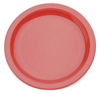 Antibac 17cm Red Plate - Narrow Rim