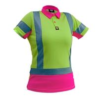 Ladies Hi Vis Day/Night Short Sleeve Microvent Premium Polo