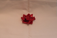 MEDIUM RED METALLIC BOWS (PACK 100)
