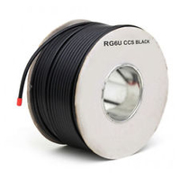 Satellite Cable RG6U-Black 100mtr Roll