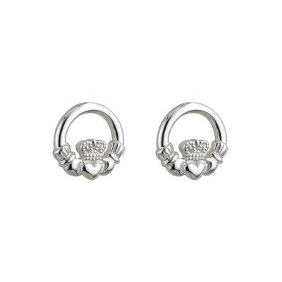 sterling silver kids claddagh stud earrings s33196 from Solvar