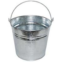 24CM / 9LTR GALVANISED BUCKET