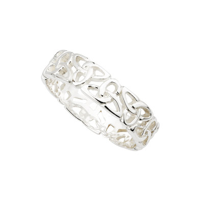sterling silver trinity knot ring s2444 from Solvar