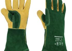 Green Welder Gaunlet Kevlar-Stitched