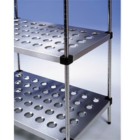 Racking S/S Perforated Shelves 4 Tier 1200 x 500 x 1800mm