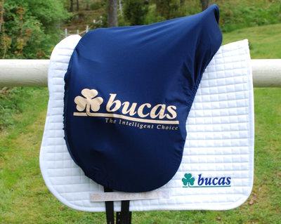 Saddle Cover Navy, Bucas Logo Si