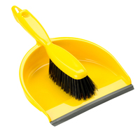 Hand Dust Pan Set, Yellow