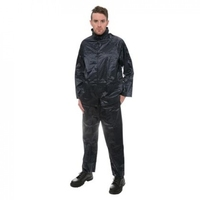 Rainsuit 2-Piece PVC Nylon Navy XX Large