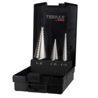 Terrax 3pce Step Drill Set