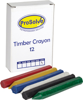 12 TIMBER CRAYON BLACK PENCIL TYPE