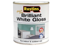 RUSTINS GLOSS PAINT WHITE 250ML