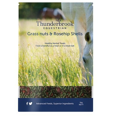 Thunderbrook Minted Grass Nuts & Rosehip Shells 1kg
