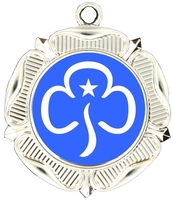 40mm Silver Rose Polished Backed Medal