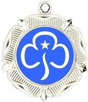 40mm Silver Rose Polished Backed Medal