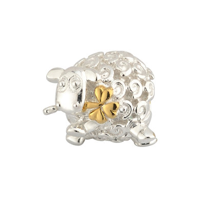 SILVER GOLD PLATED SHEEP BEAD