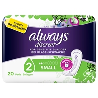 Always Discreet Small Incontinence Pads 20s