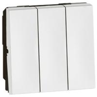 Arteor 2 x 2 Way 3 Gang 2 Module Switch - White  | LV0501.0020