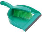 DUST PAN & BRUSH SET GREEN