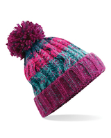 Beechfield B486 Corkscrew Pom Pom Beanie Winter Berries