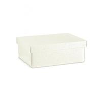 BOX & LID 300 X 230 X 110MM WHITE BUBBLE