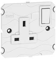 Arteor 1 Gang 13 Amp Double Pole Socket - White  | LV0501.2427