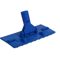 Scouring pad holders for threaded handle
