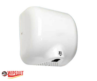 white automatic hand dryer