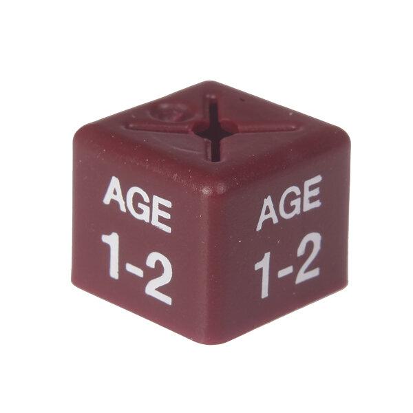 SHOPWORX CUBEX 'Age 1-2' Size cubes - Maroon (Pack 50)