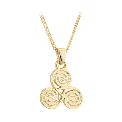 GOLD PLATED SPIRAL PENDANT