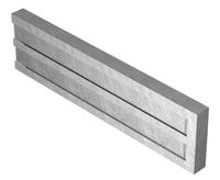 1.83m Concrete Gravel Board Long Recessed 300x50mm