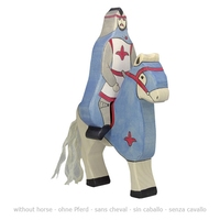 Holztiger Blue knight with cloak, riding (without horse)