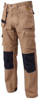 Dewalt Pro‐Tradesman Knee Pad Holster Trousers - Stone