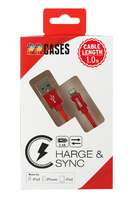 High Speed iPhone Lightning Cable Red Rope