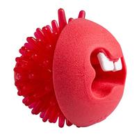 "Rogz Fred Medium Treat Ball - Red 2½"" x 1"