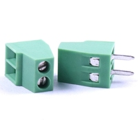 TERMINAL BLOCK CONNECTOR 2.54mm 2 PINS SCREW GREEN PLUGGABLE TYPE