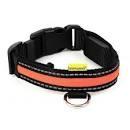 """Animates Soft Nylon LED Collar - Large 17¾"""" - 24¾"""" Orange x 1"""