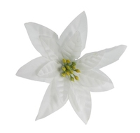 Artificial Flower Poinsettia - White