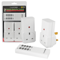 LLoytron Twin Remote Control Sockets (8 per ctn) A1210WH