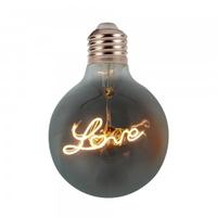 "5w G125 LED ""Love"" Filament Bulb E27 2200K Amber Glass"