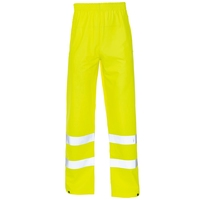 Supertouch Hi-Visibility Storm-Flex Trousers, Ankle Band, Yellow