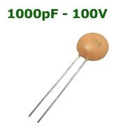 1000pF - 100V   CERAMIC DISC CAPACITOR