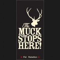 Pet Rebellion Stop Muddy Paws - The Muck Stops Here Black 45 x 100cm x 1