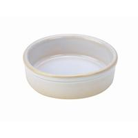 Rustic Stoneware Tapas Dish White 10cm Carton of 12