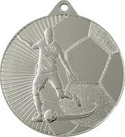 45mm Soccer Player Medal (Silver)