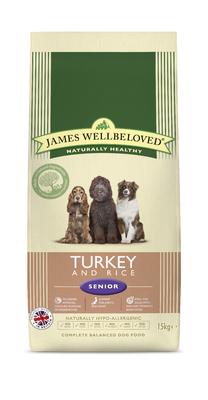 James Wellbeloved Senior Dog - Turkey & Rice 15kg