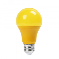 9W A60 LED Yellow Plastic Bulb E27