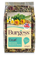 Burgess Excel Nature Snack Mountain Meadow Herbs 120g x 5